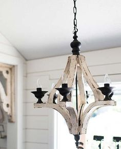 Antiqued White Cottage Distressed 6 Arm Large Chandelier/Shabby Chic/French Country/Custom to Paint USD) by GracefullyRestored Decor, How To Distress Wood, Decor Lighting, Wood Chandelier Rustic, French Country Chandelier, Kitchen Chandelier, Large Chandeliers, Chandelier, Country Chandelier