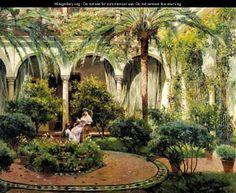 A Sevillian Courtyard 2 - Manuel Garcia y Rodriguez