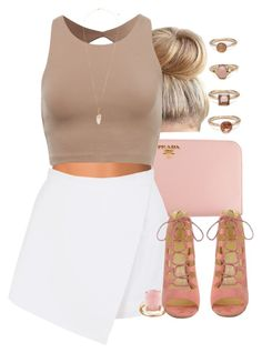 """light and airy"" by lovebrii-xo ❤ liked on Polyvore featuring Prada, NLY Accessories, BeginAgain Toys, Forever 21 and Eloquii"