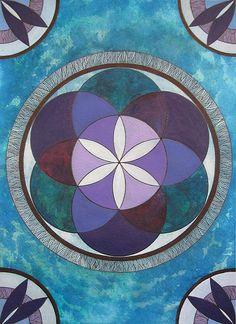 Izabela Ewa Ołdak, Revealed Truth- FLOWER LIFE, 36x26cm, acrylic, ecoline on paper, 2014
