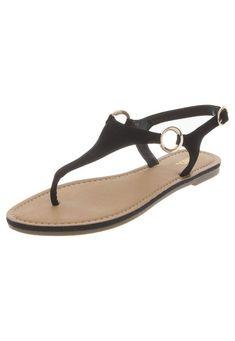 7c5a0bf5e Sandalia Plana XOXO Negro. T Strap SandalsFlip ...