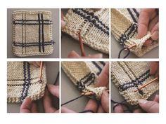 knit tutorial, crochet tutorial, making vertical stripes in knitting, slip-stitch vertical stripes