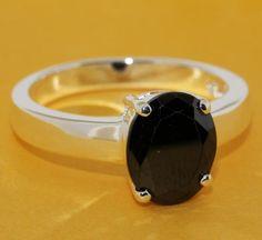 R215 gros argent plaqué anneau, Argent mode bijoux