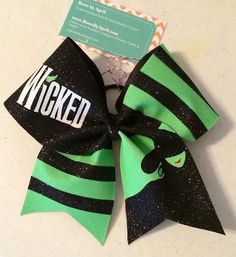 Bows by April - Wicked Full Glitter Cheer Bow, $25.00 (http://www.bowsbyapril.com/wicked-full-glitter-cheer-bow/)