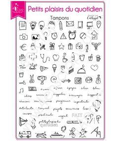 Tampon transparent Scrapbooking Carterie agenda - Petits plaisirs du quotidien