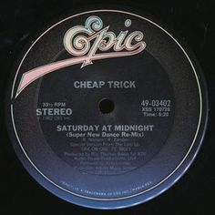 """Cheap Trick - Saturday At Midnight: buy 12"""" at Discogs #CheapTrick #NewWaveVinyl"""