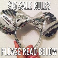 """1. All designated sale ears are $15 plus shipping and handling. Shipping within the US will be $5 international shipping with be $15.  2. All sales final- no refunds or exchanges.  3. Promo codes cannot be combine with sale price.  4. To claim an item comment on that items IG post with """"ME"""". If someone has already commented to claim you can still comment in case the person before you does not complete the purchase.  5. All claimed items must be paid for in 24 hours via Etsy. Once the sale…"""