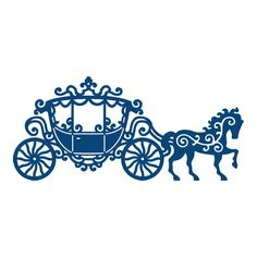 Tattered Lace - Dies - Lace Carriage-Die Size Approx: 2 x 5 Cajas Silhouette Cameo, Silhouette Cameo Projects, Silhouette Design, Horse And Carriage Wedding, Horse Carriage, Carriage Cake, Boutique Scrapbooking, Lace Stencil, Decoupage