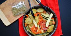 La combinación de vegetales rostizados con especias acentúan el sabor particular de cada ingrediente. Este acompañamiento es perfecto cuando quieras asar carne o pollo.  El platillo es fuente rica ...