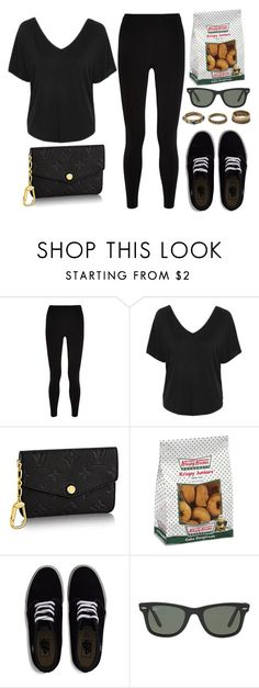 """Style #11043"" by vany-alvarado ❤ liked on Polyvore featuring T By Alexander Wang, Topshop, Empreinte, Vans, Ray-Ban and Forever 21"