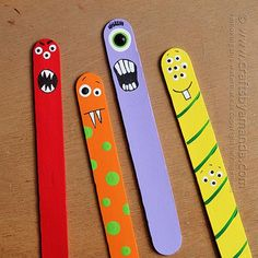 DIY Halloween : DIY Monster Craft from Craft Sticks