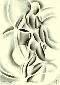 Nude - 11-08-15 Graphite on Canson Bristol paper (29.7 x 21 cm) (for sale) sales info: info@corneakkers.com see more: www.corneakkers.com #nude #art #arts #kunst #woman #model #Corné # Corne #Akkers #dutch #drawing #tekening #cubistic #kubisme #cubismo #cubisme #kubistisch #cubism #art deco #dessin #crayon #arte #arta #artista #artist #artiste #kunstenaar #rondisme #roundism