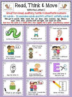 Alphabet Task Cards Letter E Grade 2, First Grade, Sounding Out Words, Self Organization, Phonics Words, Letter E, Reading Skills, Interactive Notebooks, Best Teacher