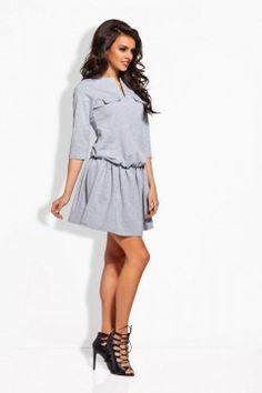 L126 jasnoszara sukienka