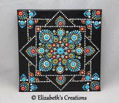 Mandala Art - Mandala Painting - Painted Mandala Canvas- Hand Painted Mandala -Mandala - Dot Art - Pointillism - Mediation Mandala