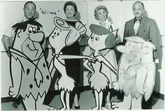 The faces behind the voices of The Flintstones.