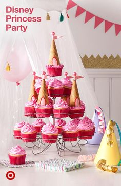 Celebrate your little girl with a Disney Princess birthday party. Unicorn Birthday Parties, First Birthday Parties, Birthday Party Themes, Girl Birthday, First Birthdays, Princess Birthday Party Decorations, Cake Birthday, Birthday Ideas, Disney Princess Birthday Party
