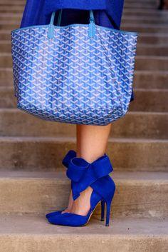 Aminah Abdul Jillil Cobalt Blue Bow Heel