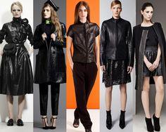 CITY SLICKERS1.Leather looks from Bottega Veneta, Roksanda Ilincic, Rag and Bone, Reed Krakoff and Sachin and Babi