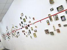 """mano's welt: ausstellungseröffnung """"galerie auf zeit"""" Box Art, Art Boxes, Corporate Design, Exhibition Display, Islamic Art, Installation Art, Creative Inspiration, Wall Collage, Sculptures"""