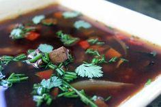 Hoisin tofu soup and rice