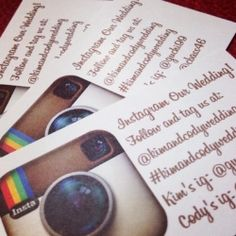 Have your guests join in the fun with instagram! Tips for having a #hashtag wedding! (image via The Wedding Cafe)
