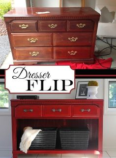 20 Creative Furniture Hacks :: Rehab an old dresser! This would make for a nice TV stand.