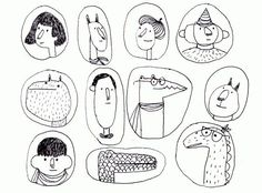 drawings of people Illustration Inspiration, Simple Illustration, Art Et Illustration, Character Illustration, Art Sketches, Art Drawings, Illustration Mignonne, Drawn Art, Doodles