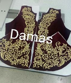 Machine Embroidery Patterns, Embroidery Designs, Afghan Clothes, Moroccan Dress, Embroidery Dress, Traditional Dresses, Hijab Fashion, Damask, Kurtis