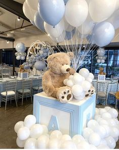 Gender Reveal Party Decorations, Baby Shower Decorations For Boys, Baby Shower Centerpieces, Baby Shower Themes, Shower Ideas, Fiesta Baby Shower, Baby Shower Parties, Teddy Bear Baby Shower, Baby Boy Shower