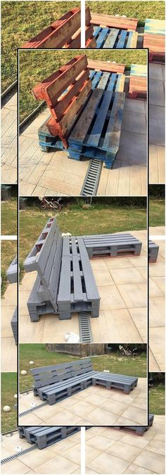 Small sizes of outdoor couch designs are excellently designed out for your household use. This is a unique idea of the pallet designing, where you can catch the attractive rustic use of the wood pallet to add it with some catchier prospects. Diy Projects Outdoor Furniture, Pallet Furniture Designs, Pallet Garden Furniture, Diy Furniture Couch, Diy Pallet Projects, Pallet Ideas, Furniture Ideas, Barbie Furniture, Antique Furniture