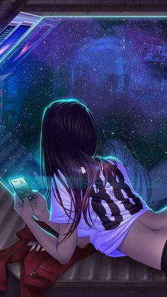 futuristic girl, shadowrun art things animasjon, cyberpunk og a Digital Art Girl, Digital Art Anime, Manga Art, Anime Art, Anime Kunst, Manga Anime, Henna Tattoo Muster, Shadowrun, Anime Characters