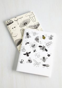 At Fun with Nature Notebook Set - Multi, Rustic, Good, Print with Animals, Novelty Print, Mushrooms