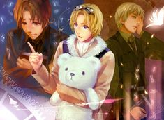 Hetaoni ~ Italy, Canada and England Hetalia, Spamano, Axis Powers, Image Boards, Doujinshi, Anime Guys, Cool Art, Horror, Fangirl