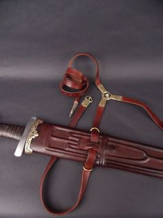 Anglo Saxon Clothing, Sword Sheath, Belt Knife, Ancient Vikings, Swords And Daggers, Viking Jewelry, Dublin, Suede Leather, Inventions