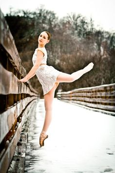 "ballet in winter. photo credit Stephanie Williams ""You've Been Framed Photography"""