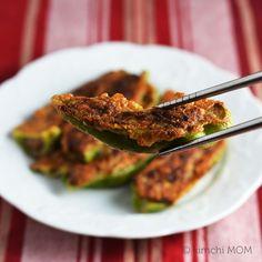 Gochujun (Korean stuffed pan-fried peppers)