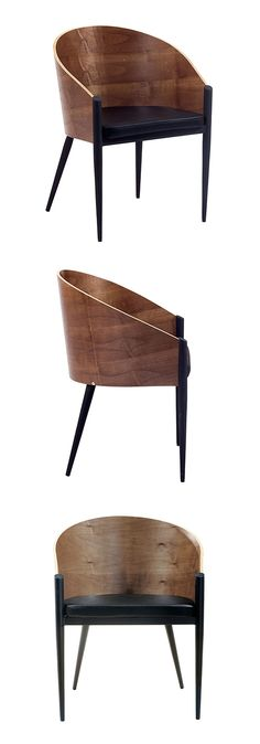 Sit nicely with this dining chair crafted with wood and steel. The natural grain of the walnut wood is an understated touch that speaks of elegance and luxury. Three straight legs firmly meet the floor...  Find the Astor Dining Chair, as seen in the The Mountains Are Calling Collection at http://dotandbo.com/collections/the-mountains-are-calling?utm_source=pinterest&utm_medium=organic&db_sku=EEI0022