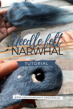 This needle felt narwhal tutorial takes you step by step through the creation of a scented car accessory that everyone's bound to adore! Of course, this fun little craft project isn't just for drivers – add your narwhal diffuser to your handbag as a charm instead, and he's sure to receive compliments. Choose your favourite essential oil to keep him topped up with, and take a little comfort and calm with you on your travels. Needle Felted Animals, Felt Animals, Craft Projects, Craft Ideas, Needle Felting Tutorials, Create And Craft, Easy Crafts, Diffuser, Compliments