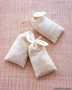 stamped muslin bags as favors and seating cards Creative Wedding Favors, Unique Wedding Favors, Wedding Ideas, Wedding Stuff, Wedding Flowers, Wedding Decor, Woodsy Wedding, Wedding Fun, Wedding Things