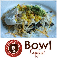 This copycat version of Chipotle Bowl has a delightful combination of flavors. Sooo good! Love restaurant copycats!