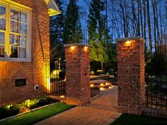 Kepp your home safe in the #winter nights by installing path lights, wall lights and the stairway lights. The halogens melt down the snow reducing damage to the hardscapes. Get yours right here http://southernlightsofnc.com/contact/