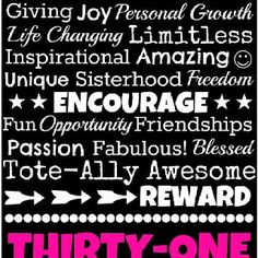 Why I <3 Thirty-one!  www.facebook.com/groups/kellycoffmans31gifts (request to join!)