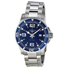 Longines HydroConquest Blue Dial Stainless Steel Mens Watch - http://menswomenswatches.com/longines-hydroconquest-blue-dial-stainless-steel-mens-watch/ COMMENT.