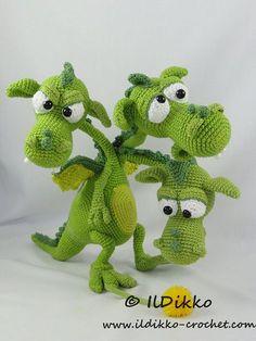 Amigurumi Crochet Pattern Brutus-Brian-Boris the Three por IlDikko