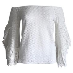 Tunic Free People White size XS International in Cotton - 5558011 Top Free, Luxury Consignment, Free People Tops, Bell Sleeve Top, Tunic, Pullover, Clothes For Women, Lace, Sweaters