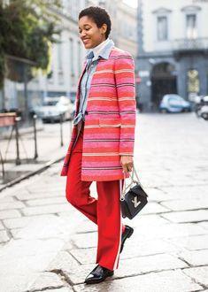 tamu mcpherson all red street style