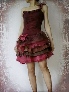 Party Dress Art Doll Boho Chic Rag Style Upcycled by Zollection, $140.00