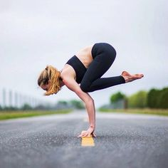 crow (on finger tips!) #yoga