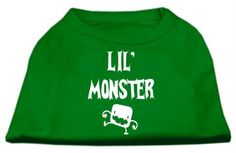 Mirage cat Products Lil Monster Screen Print Shirts Emerald Green XXXL (20) ** Find out more details by clicking the image (This is an amazon affiliate link. I may earn commission from it)